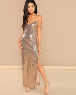 Women Sexy Backless Modern Lady Maxi Dress