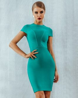 Women Sexy Bodycon Night club Mini Evening Party Dress