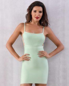 Women Sexy Sleeveless Bodycon Clubwear Party Dress