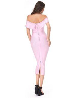 Women Sexy Strapless Bodycon Elegant Luxury Club Party Dress