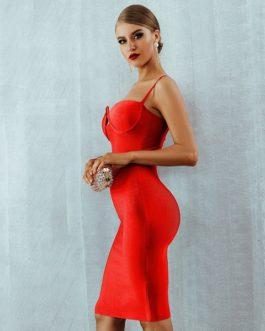 Women Sexy V Neck Sleeveless Luxury Club Party Dress