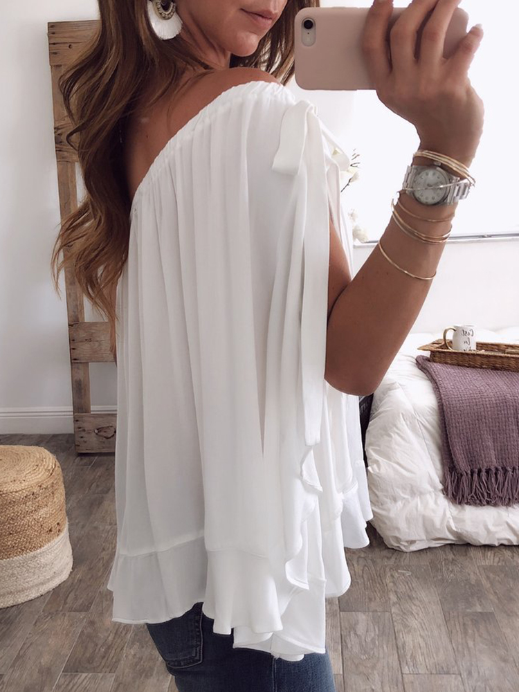 1c557af5de8 ... Women Solid Color Off Shoulder Chiffon Blouse. Sale! Previous Product ·  Next Product. 🔍. $62.00 $30.80