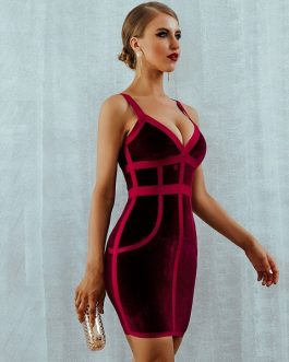 Women Vestido Sexy Bodycon Club Dress
