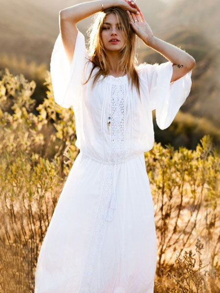 Boho Dress Plus Size Long Sleeve Maxi Dress Women Beach Dress