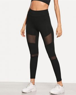 Casual Minimalist Skinny Solid Leggings