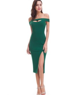 Sheath Sexy High Split Cocktail Dress