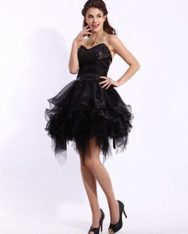 Fashion Strapless Sweetheart Neck Sequin A-line Prom Dress