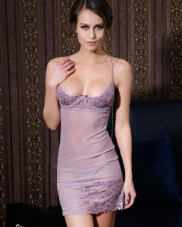Lace Sexy Babydoll Nightdress Sheer Slip Lingerie