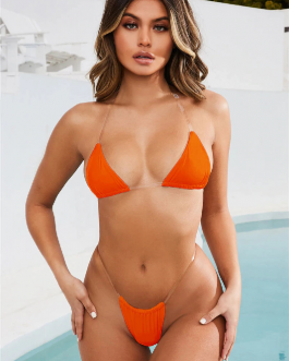 Sexy Women Micro Bikini Transparent Strap Swimsuit