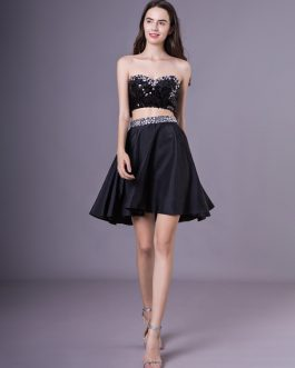 Short Homecoming Dress With Sequins
