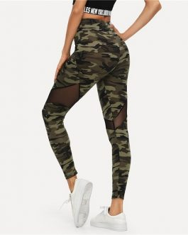 Sporting Sheer Crop Women Athleisure Leggings