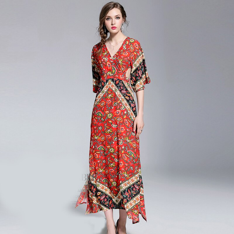 017168303c76 ... Women Boho print Backless Maxi Dress Flare Sleeve Party Holiday Beach  Dress. Sale! Previous Product · Next Product. 🔍. $110.00 $54.26