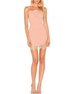 Women Lace Bandage Vestidos Mini Club Dress