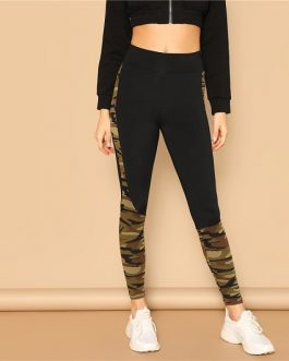 Women Mid Waist Spring Leisure Casual Workout Leggings