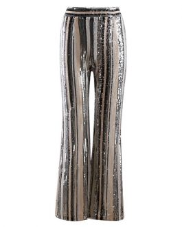 Women Runway Sequined Evening Party Club Pants Trousers