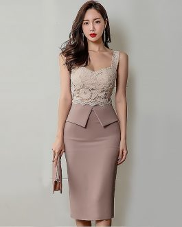 Women sexy bodycon vestidos Sleeveless club party dress
