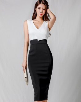 Women sexy bodycon vestidos elegant short work dress