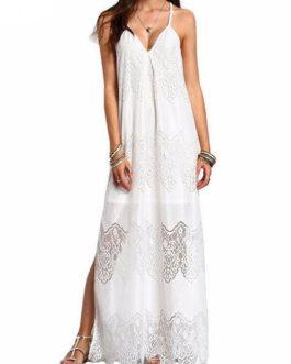 Women's Long Dress Boho Oversized Spaghetti Strap Slit Maxi Dress