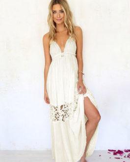 Women's Split Backless Maxi Dress