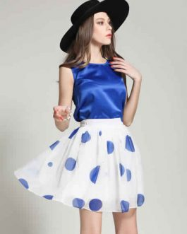 Polka Dot Chiffon Suit for Women