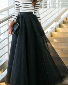 Off-the-shoulder Long Sleeve Chiffon Two Piece Sets