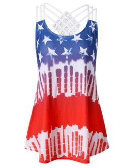American Flag Strappy Tank Top