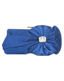 Bridal Clutch Wedding Handbag Bow Rhinestone Beaded Evening Purse