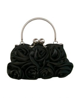 Bridal Wedding Handbag Flowers Satin Handbag