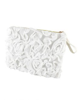 Clutch Bag Flower Faux Leather Women's Evening Bag