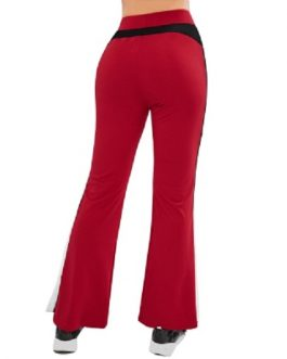 Contrast Side Flare Yoga Gym Pants