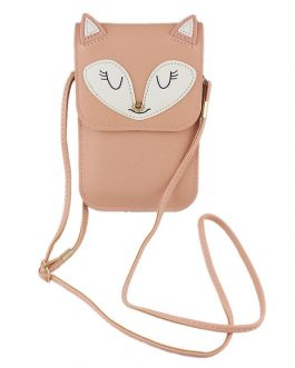 Crossbody Bags Faux Leather Fox Pattern Adjustable Small Bags