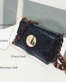 Designer Women Crocodile Leather Waist Bag
