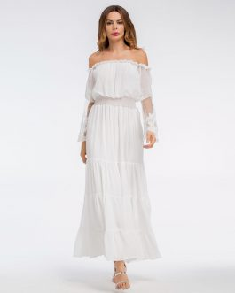 Female Chiffon Boho maxi dress vestidos beach Holiday dress