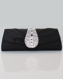 Formal Crystal Woman's Evening Bag With Rhinestone