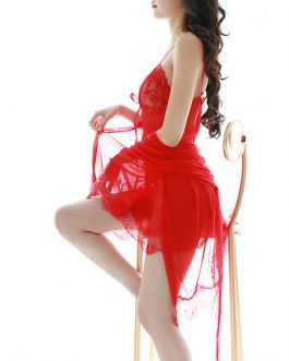Girl sexy lace clothing Bebeedol Night Gown transparent Sleepwear
