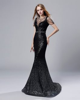 Gorgeous Long Mermaid Celebrity Prom Evening Party Gown
