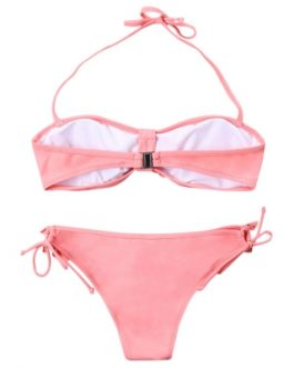 Halter Bikini with Ruffles
