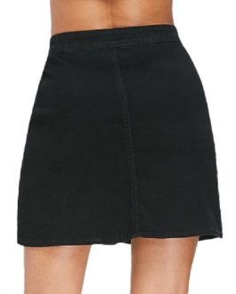 High Waist Embroidered Women Mini Skirt
