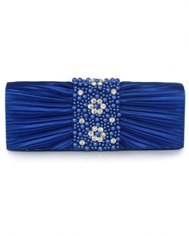 Pleated Beaded Evening Bag