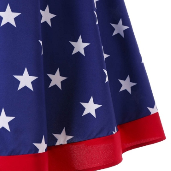 Plus Size American Flag Vintage Dress - Power Day Sale