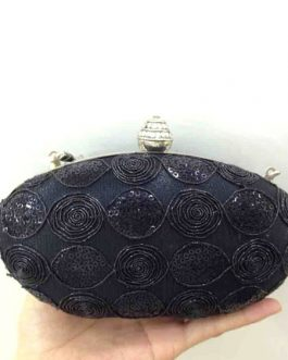 Sequin Wedding Clutch Oval Shape Evening Handbags