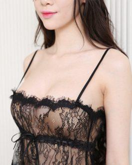 Sexy eyelash lace bra bracing set MILF Lingerie