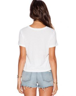 Short Sleeve Letters Printed Casual T-shirt