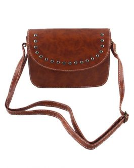 Shoulder Bag Rivet Faux Leather Square Fashion Bag For Women