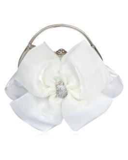 Silk Flower Shape Evening Bag With Rhinestone For Woman