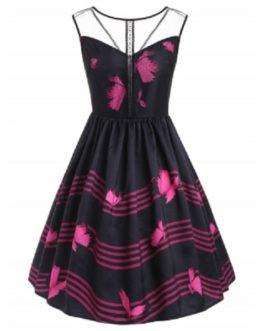 Sleeveless Butterfly Dress