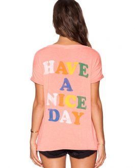 Smile Letters Printed Oversized T-shirt