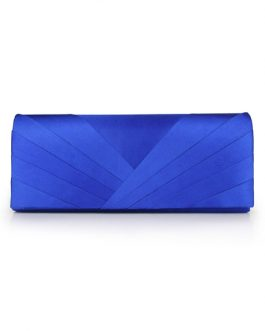 Wedding clutch Pleated Satin Evening handbags