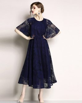 Woman lace Cloak Sleeves Office Lady Casual party dress