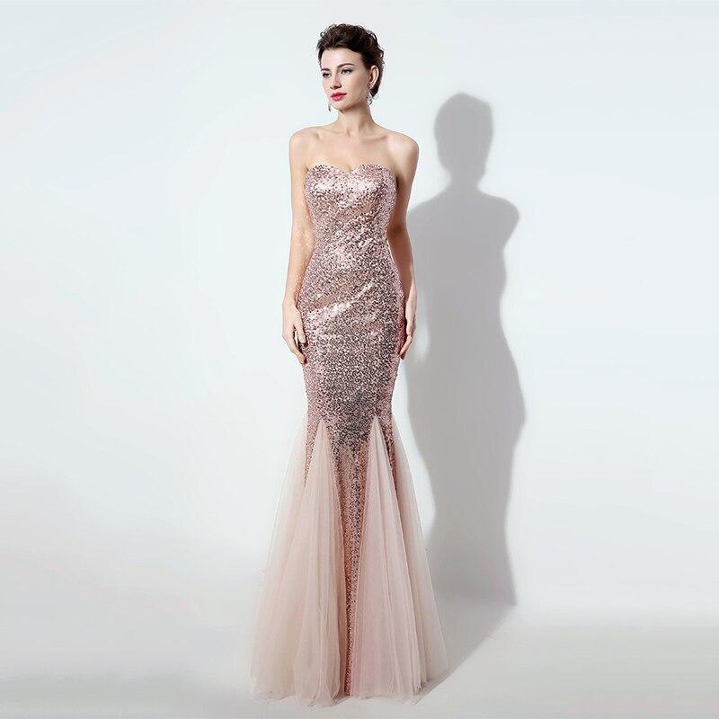 8470858a1317b Women Cheap Long Bling Evening Dress Formal Prom Party Gowns